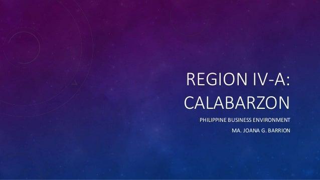 Calabarzon - Business Environment