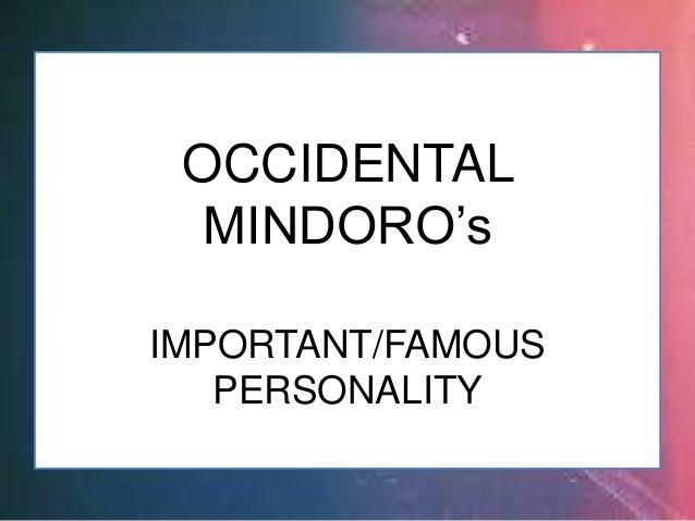 CARLOS LOYZAGA OCCIDENTAL MINDORO (Imp't/Famous Personality)