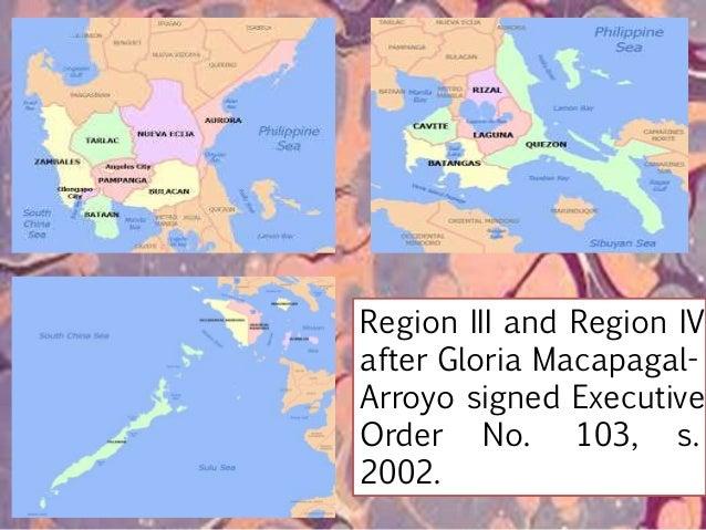 Provinces under Region IV-B (MIMAROPA Region): 1. Occidental MIndoro 2. Oriental MIndoro 3. MArinduque 4. ROmblon 5. PAlaw...