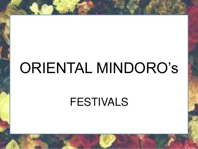BAHAGHARI FESTIVAL ORIENTAL MINDORO (Festivals)
