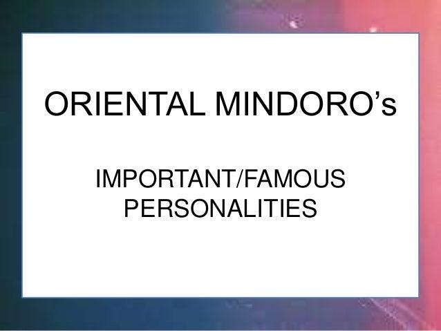 CHARO SANTOS-CONCIO ORIENTAL MINDORO (Imp't/Famous Personalities)