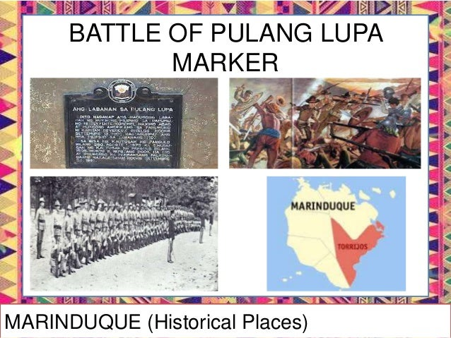 BATTLE OF PAYE MARKER MARINDUQUE (Historical Places)