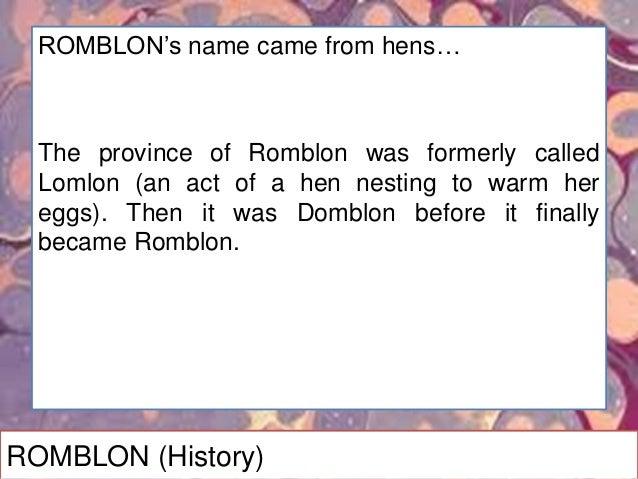 ROMBLON (Products)