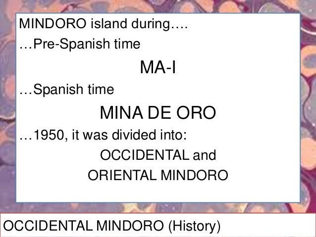 OCCIDENTAL MINDORO (Products)