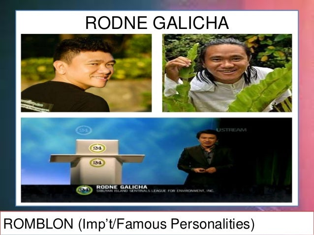 RODNE GALICHA's 8Rs Reduce Reuse Recycle Repair Refuse Rethink Rainforest Recollect ROMBLON (Imp't/Famous Personalities)