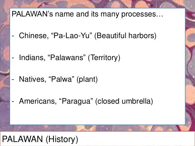 PALAWAN (Products)