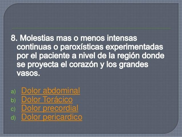 13.¿Cuál es la consecuencia de presencia de líquido o aire dentro de la cavidad pleural izquierda? a)desplazamiento hacia ...