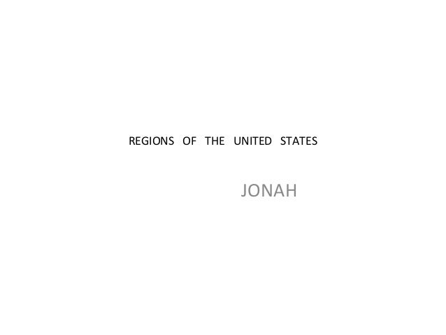 REGIONS OF THE UNITED STATES JONAH