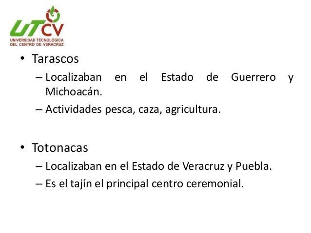 • Toltecas – Localizaban en el Estado Sur de Hidalgo. – Expertos en la escritura, arquitectura y astronomía. • Mixtecos – ...