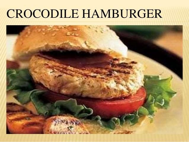 Burger Buaya. Kuliner ini begitu populer di Kamboja, terutama di kota Siem Reap. Berbagai restoran yang menawarkan daging buaya dengan olahan next level, seperti burger dan pizza buaya. Meski tampilannya serupa dengan burger pada umumnya, patty daging buaya memiliki tekstur lebih empuk dan lembut.