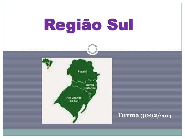 Região Sul Turma 3002/2014