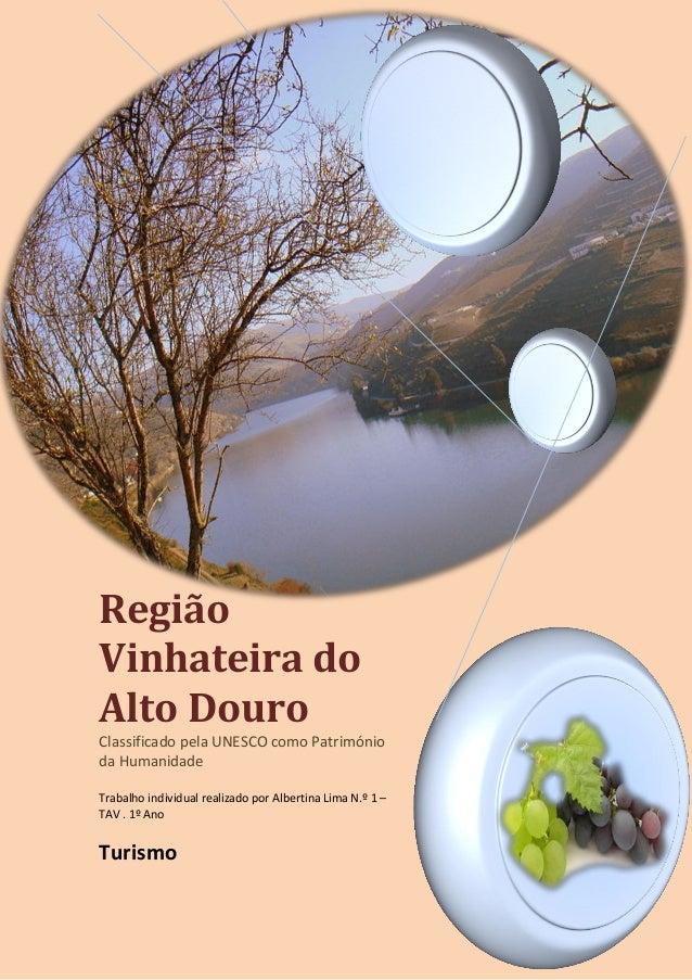 Região Vinhateira do Alto Douro Classificado pela UNESCO como Património da Humanidade Trabalho individual realizado por A...