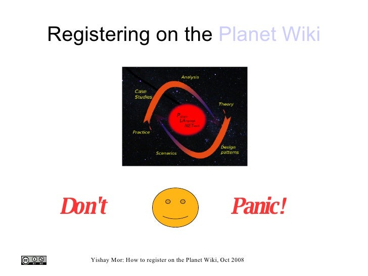 Registering on the  Planet  Wiki Don't Panic!