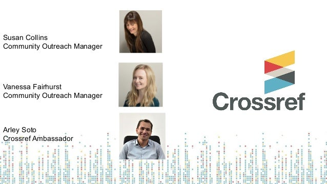 Register and update content in crossref, in Spanish Slide 3