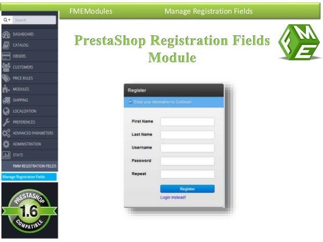 FMEModules Manage Registration Fields