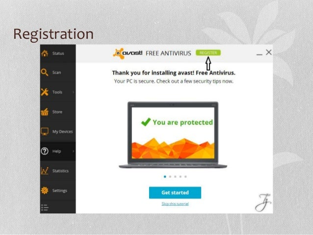 how to register avast antivirus
