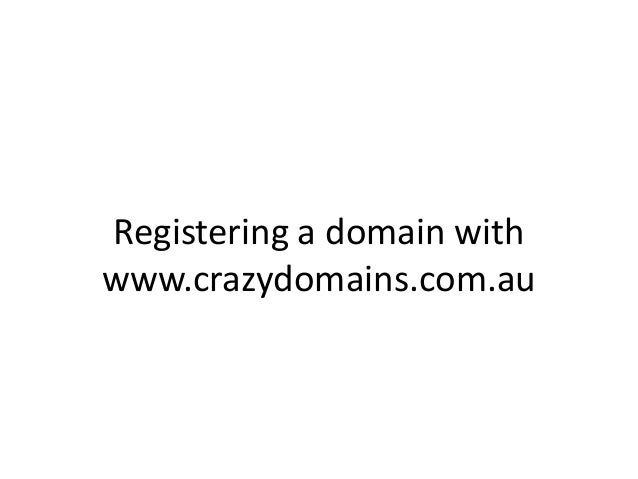 Registering a domain with www.crazydomains.com.au