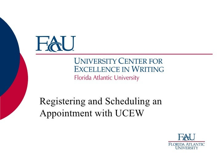 Registering and Scheduling an Appointment with UCEW