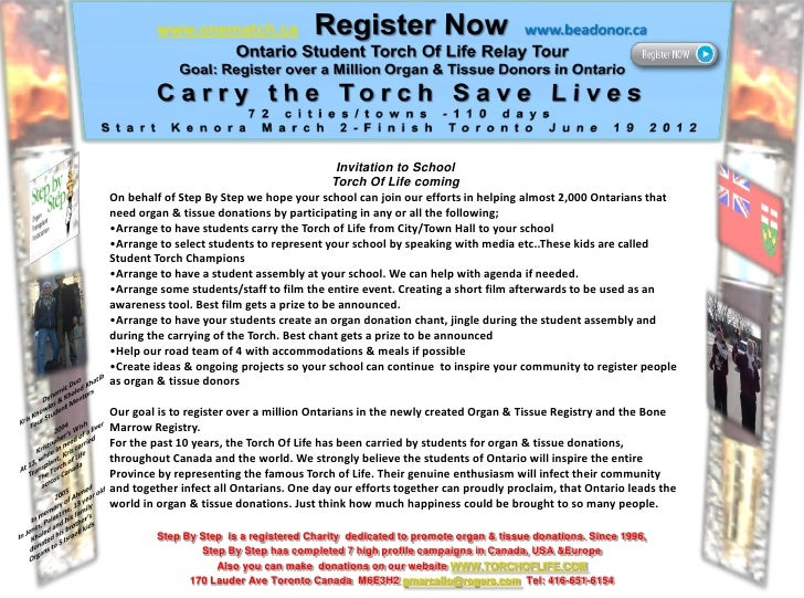Invitation to School                                           Torch Of Life comingOn behalf of Step By Step we hope your ...