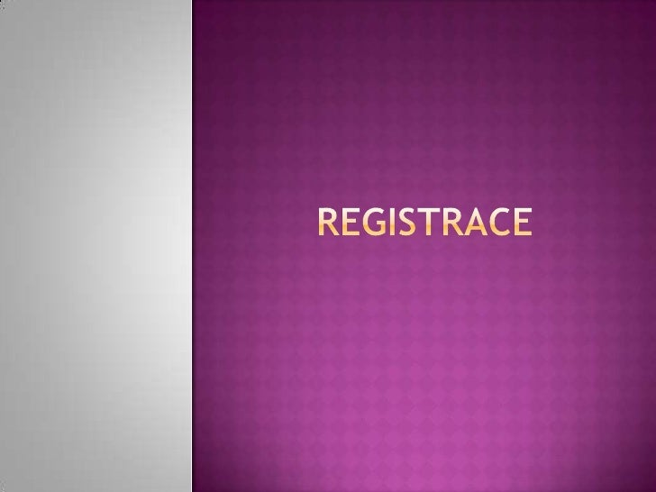 Registrace<br />