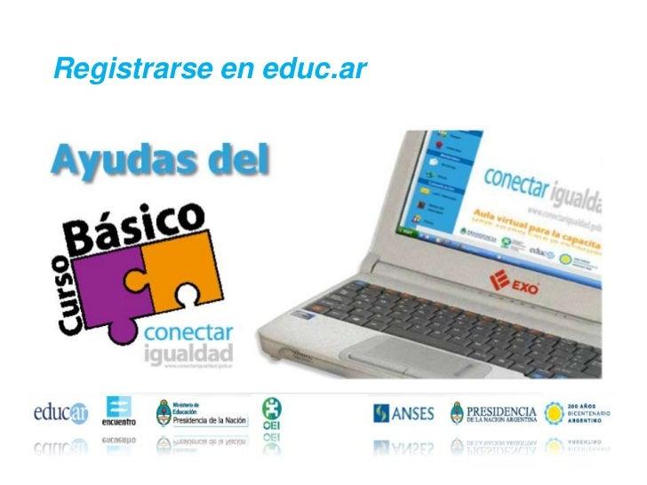 Registrarse en educ.ar