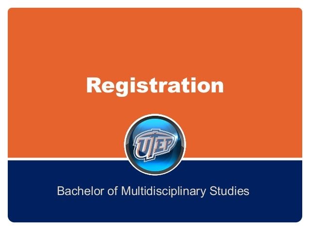 Registration Bachelor of Multidisciplinary Studies