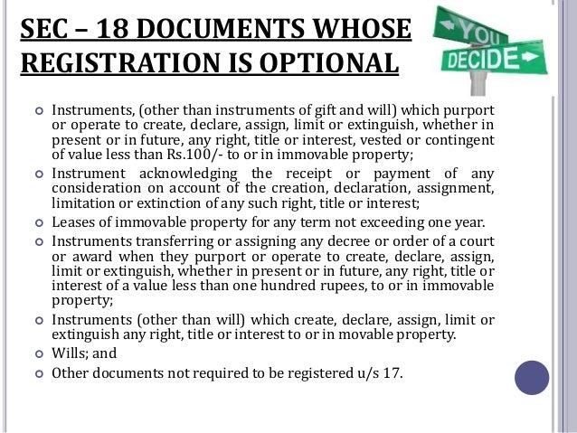 Indian Registration Act 1908 Pdf