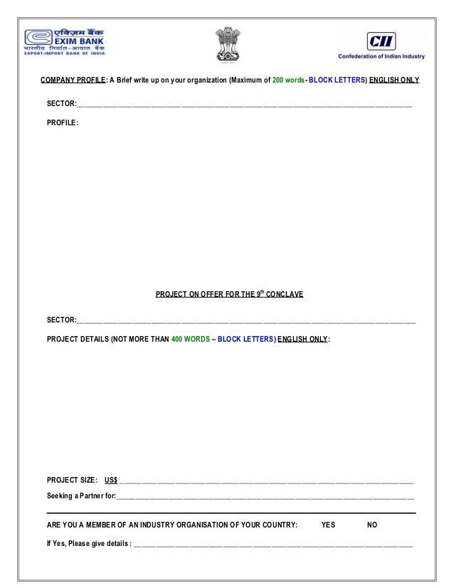 company write up form