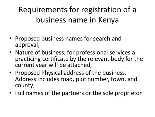 how to change a business name in kenya