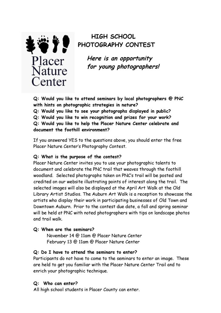 HIGH SCHOOL                      PHOTOGRAPHY CONTEST                            Here is an opportunity                    ...