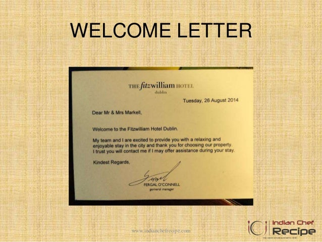 welcome letter wwwindianchefrecipecom