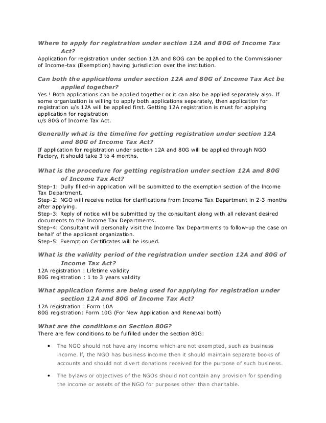 Registration us12 a and 80g – Ngo Bylaws Template