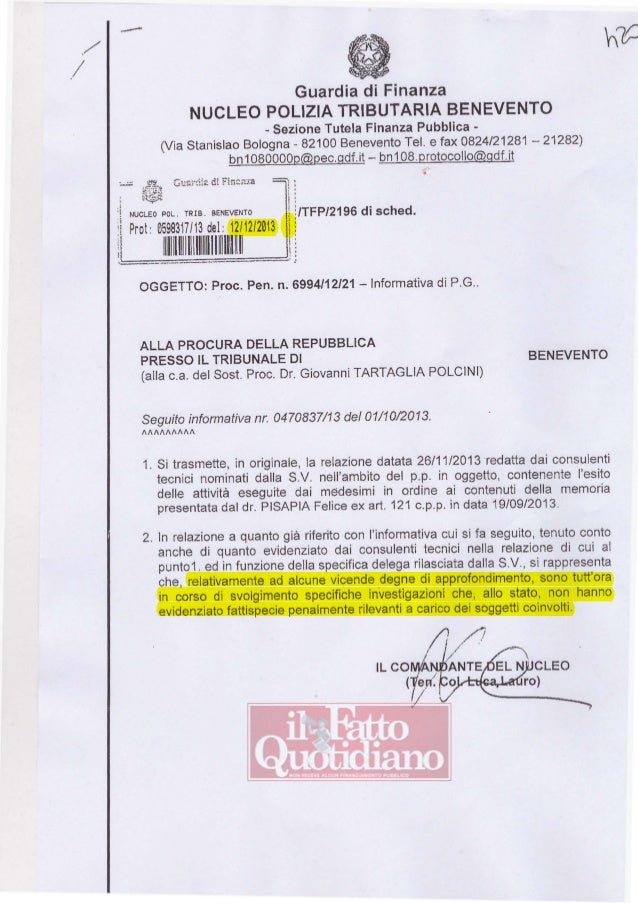 ./  ---  / Guardia di Finanza NUCLEO POLIZIA TRIBUTARIA BENEVENTO - Sezione Tutela Finanza Pubblica (Via Stanislao Bologna...