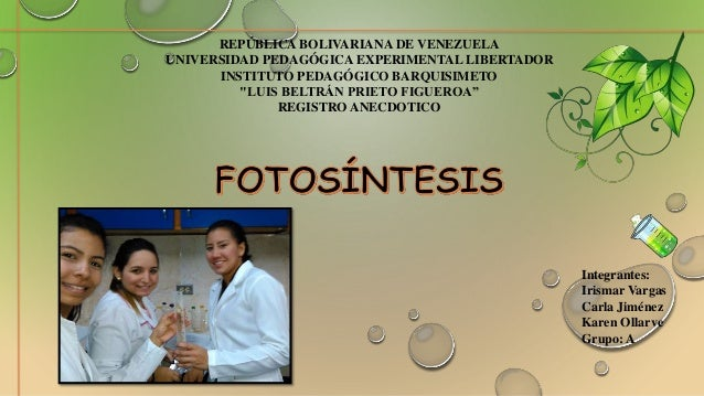 "REPÚBLICA BOLIVARIANA DE VENEZUELA UNIVERSIDAD PEDAGÓGICA EXPERIMENTAL LIBERTADOR INSTITUTO PEDAGÓGICO BARQUISIMETO ""LUIS ..."