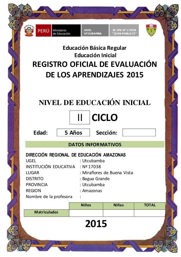 Registro auxiliar de evaluacion inicial 5 a os for Curriculum de nivel inicial