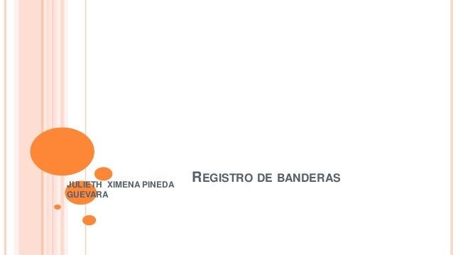 REGISTRO DE BANDERAS JULIETH XIMENA PINEDA GUEVARA
