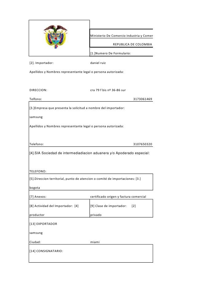 Ministerio De Comercio industria y Comercio   REGISTRO                                                           REPUBLICA...