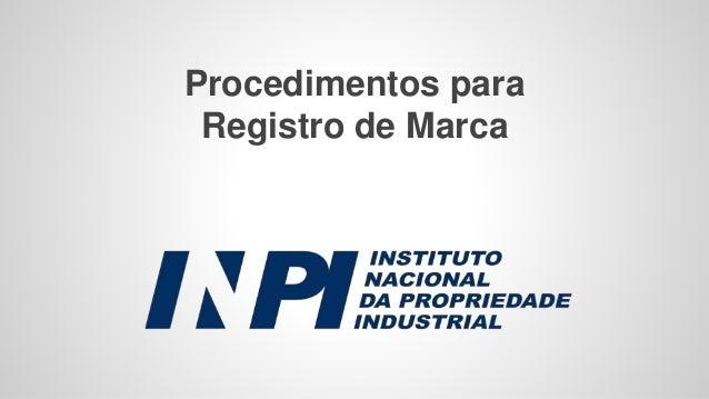 Procedimentos para Registro de Marca