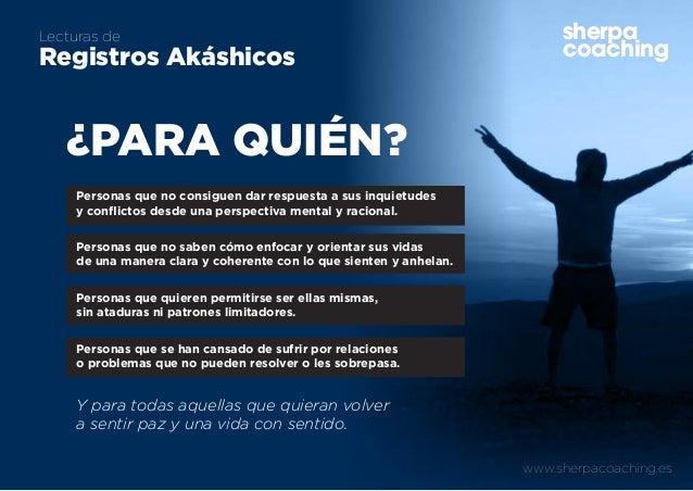 www.sherpacoaching.es sherpa coaching Lecturas de Registros Akáshicos ¿PARA QUIÉN? sherpa coaching Personas que no consigu...