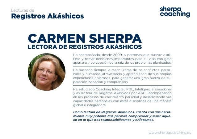 www.sherpacoaching.es sherpa coaching Lecturas de Registros Akáshicos Ha acompañado, desde 2009, a personas que buscan cla...