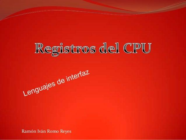 Ramón Iván Romo Reyes