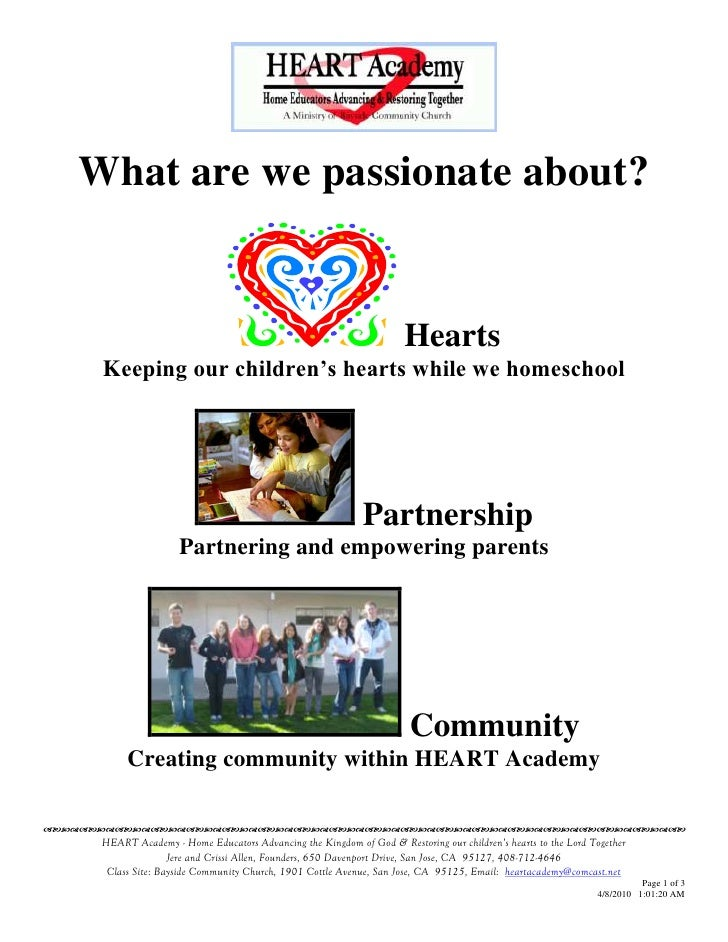 What are we passionate about?                                                                          Hearts       Keepin...
