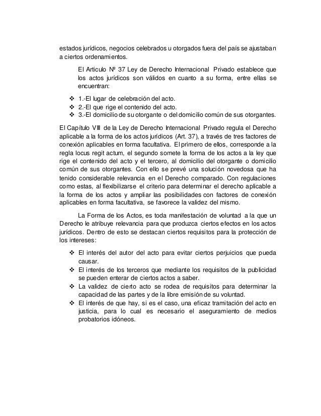 Regla locus regit actum venezuela for Regla del fuera de lugar