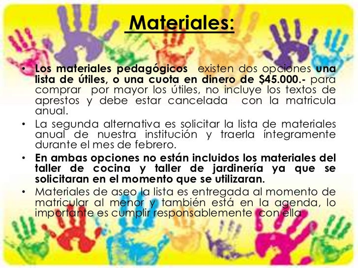 Reglamanto2012 for Lista de materiales de cocina