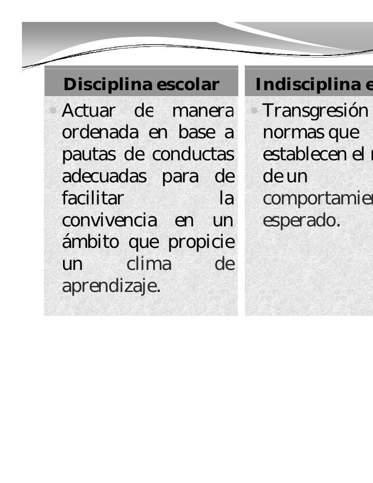 Reglamentación escolar y disciplina ubo 2010 Slide 3