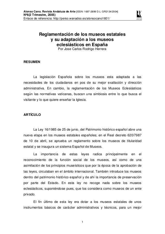 Alonso Cano. Revista Andaluza de Arte [ISSN: 1697-2899 D.L: GR2134/2004] Nº6(2 Trimestre, 2005) Enlace de referencia: http...