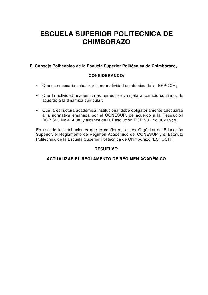 ESCUELA SUPERIOR POLITECNICA DE                CHIMBORAZOEl Consejo Politécnico de la Escuela Superior Politécnica de Chim...