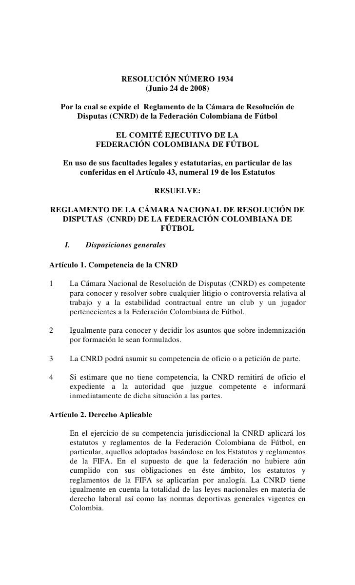 RESOLUCIÓN NÚMERO 1934                           (Junio 24 de 2008)      Por la cual se expide el Reglamento de la Cámara ...