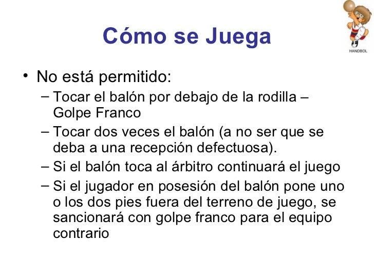 Reglamento de balonmano for Cuando es fuera de lugar en un partido de futbol