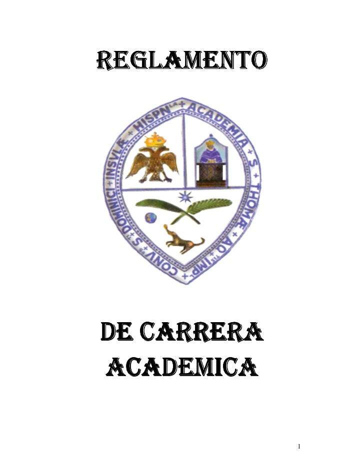 REGLAMENTODE CARRERAACADEMICA             1